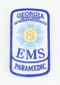 Georgia EMS Patch - Paramedic Rocker
