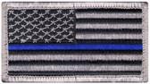 Blue Line US Flag Patch - Velcro