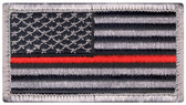 Red Line US Flag Patch - Velcro