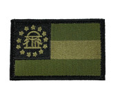 State of Georgia Velcro Flag - OD Green