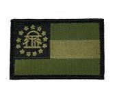 State of Georgia Velcro Flag - OD Green