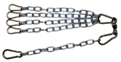 Chain and Swivel Assembly with 4 Spring Snaps