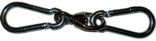 """Heavy Bag Swivel with two 1/4"""" Spring Snaps"""
