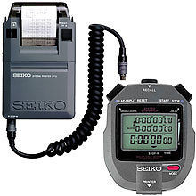 Seiko S143 Set - 300 Lap Memory Timer with Printer