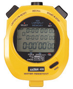 Ultrak 495 - 100 Lap Memory Stopwatch - 3 Line Display