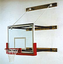 Spalding Wall-Braced Stationary Basketball Backstop