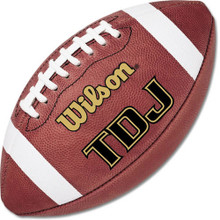 Wilson TDJ Leather Junior Game Football F1360