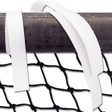 Hook and Loop (Velcro) Volleyball Net Straps (24/set) White