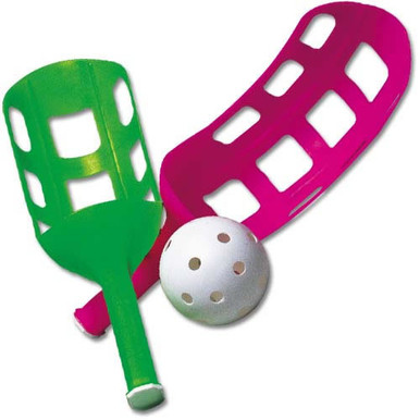 US Games Fun Air Scoop Ball Lacrosse Whiffle Game