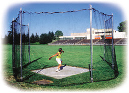 Stackhouse THSDCP 11' H. S. Permanent Discus Cage - Easy Set-Up