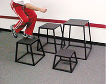 """Stackhouse  24"""" Steel with Rubber Mat Plyometric Box"""