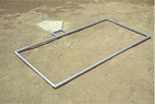Stackhouse BBT46 Baseball Batters Box Template - 4' x 6'