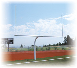 Stackhouse FPGHS Permanent Gooseneck High School Goal Posts-Pair