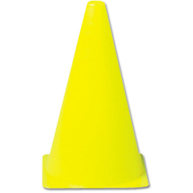 "9"" Yellow Economy Cone - No Hole in Top"