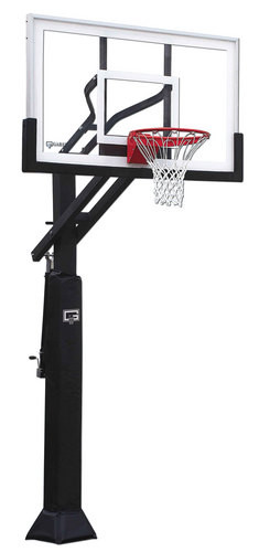 Gared Ultra Champ II Adjustable Basketball System, 42 x 60 Glass