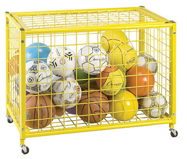 Champion Sports Locking Ball Storage Cart - LRCL