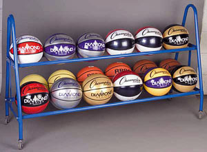 Champion Sports Deluxe Ball Rack - BRC18