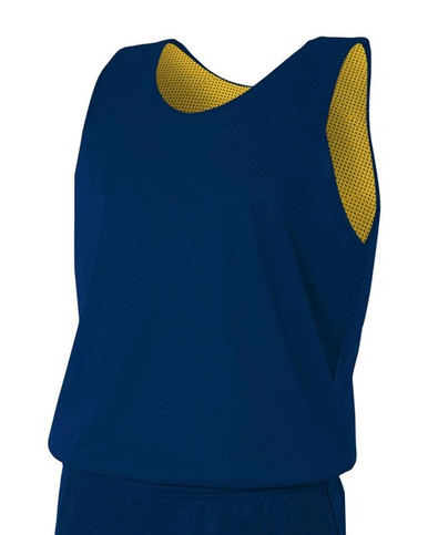A4  Youth Reversible Mesh Tank Top Basketball Jersey