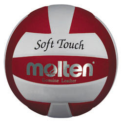 Molten Red/White Soft Touch Volleyball