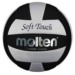 Molten Black/White Soft Touch Volleyball