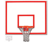 "Gared Sports 1260B: 42"" x 60"" Steel Basketball Backboard with Target/Border"