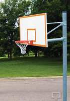 """Gared Sports PK6010: 6 5/8"""" Straight Basketball Post Package with Steel Backboard"""