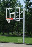 "Gared Sports PK6091: 5 9/16"" Straight Basketball Post Package w/Glass Board"
