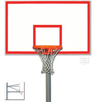 "Gared Sports PK6051: 5 9/16"" Straight Basketball Post Package w/Steel Board"