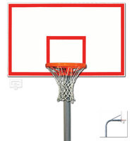 Gared Sports PK6005: Heavy-Duty Gooseneck Package w/Steel Basketball Board