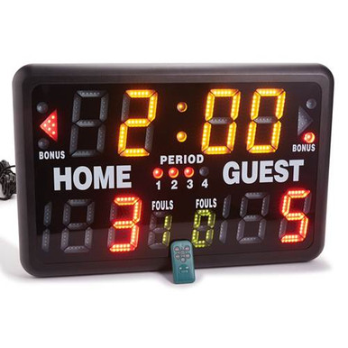 Multisport Indoor Tabletop Scoreboard - Basketball,Wrestling,VB