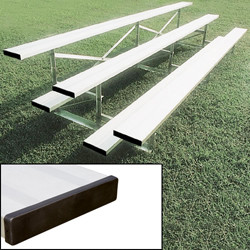 Alumagoal Preferred Stationary Aluminum Bleacher - Seats 20
