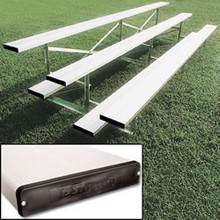 Alumagoal Preferred Stationary Aluminum Bleacher - Seats 30