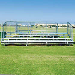 Alumagoal Preferred Stationary Aluminum Bleacher - Seats 56