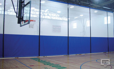Gared Sports 4030 Gym Divider Curtain - Roll Up Vinyl Mesh/Solid
