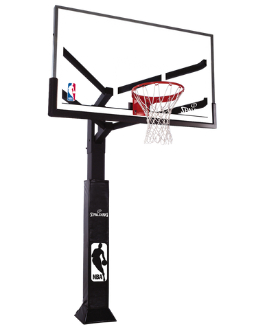"Spalding Arena View 72"" In-Ground, Glass Basketball System"