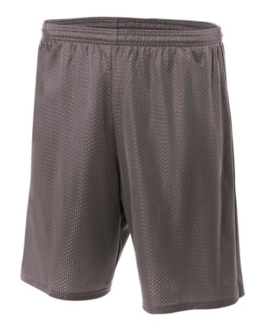 """A4 Adult Lined Tricot Mesh Shorts 9"""" Inseam"""