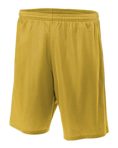 """A4 Youth Lined Tricot Mesh Shorts 6"""" Inseam"""