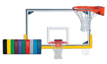 Gared Collegiate Basketball Backboard Package for Indoor Gyms