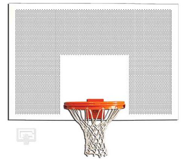 Gared Perforated Steel Basketball Backboard, 42 x 60