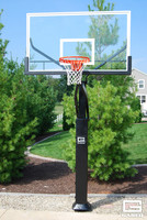 "Gared Pro Jam Adjustable Hoop with 42 x 72 Glass, 6"" Square Post"