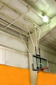 Gared Ceiling Hung Stationary Basketball Backstop