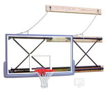 Gared Side-Fold, Wall Mounted Basketball Backstop
