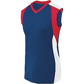 High 5 Sportswear Women's Sleeveless Volleyball Jersey-Piranha