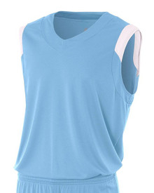 Youth Moisture Management V-neck Muscle