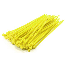 Poly-Cap Yellow 18'' Tie Wraps 100 per pack