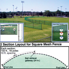 Outfield Fencing 150' Roll 1