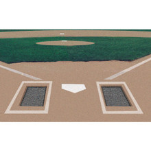 Rubber Batters Box Foundation - pair