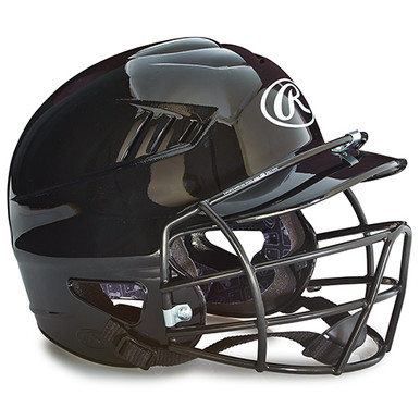 Rawlings Youth Batting Helmet w/Face Guard - Black