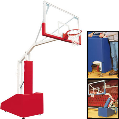 Bison T-REX® Side Court Portable Basketball System