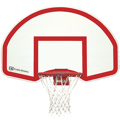 Gared Steel Fan Shaped Rear Mount Basketball Backboard w/ Target